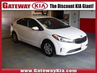 KIA CERTIFIED, WHITE FORTE LX HAS A CLEAN CARFAX..NO