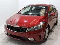 Red 2017 Kia Forte LX FWD 6-Speed 2.0L I4 DOHC Dual