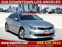 Clean CARFAX. Certified. Silver 2017 Kia Optima Hybrid