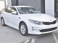 Clean CARFAX. Snow White Pearl 2017 Kia Optima LX 4D