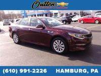 CARFAX One-Owner. 2017 Kia Optima LX 4D Sedan Burgundy