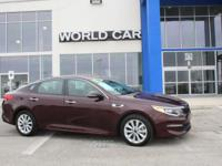 CARFAX 1-Owner. DARK RED exterior and BEIGE interior,