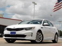 2017 Kia Optima Snow White Pearl 6-Speed Automatic with
