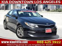 Clean CARFAX. Black 2017 Kia Optima LX 4D Sedan FWD