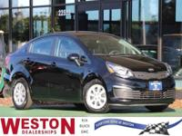 CARFAX One-Owner. 2017 Kia Rio LX Black Odometer is