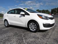 Like new! White 2017 Kia Rio LX FWD 6-Speed Automatic