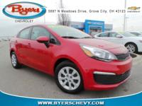CARFAX One-Owner. Clean CARFAX. Red 2017 Kia Rio LX FWD
