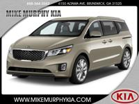 This 2017 Kia Sedona EX includes a backup sensor, rear