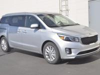 Silver 2017 Kia Sedona EX FWD 6-Speed Automatic with