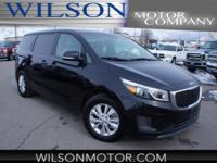 CARFAX One-Owner. Clean CARFAX. Black 2017 Kia Sedona