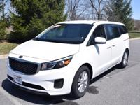 CARFAX One-Owner. Certified. White 2017 Kia Sedona LX