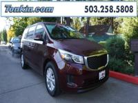 WOW!!! Check out this. 2017 Kia Sedona LX Maroon 3.3L