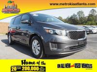 Get ready to go for a ride in this 2017 Kia Sedona LX,