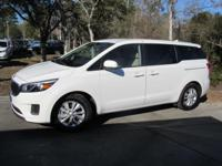 This 2017 Kia Sedona 4dr LX FWD features a 3.3L V6