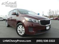 Scores 24 Highway MPG and 18 City MPG! This Kia Sedona