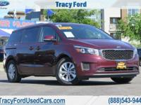 Boasts 24 Highway MPG and 18 City MPG! This Kia Sedona