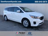 White 2017 Kia Sedona LX FWD 6-Speed Automatic with