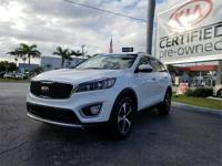 CARFAX One-Owner. Snow White Pearl 2017 Kia Sorento EX