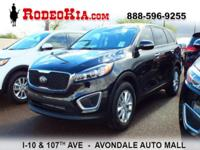 *Bluetooth* This 2017 Kia Sorento 2.4L L is Ebony Black