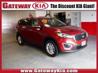 ONLY DRIVEN 1,148 MILES KIA CERTIFIED, RED SORENTO LX