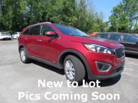 CARFAX One-Owner. Red 2017 Kia Sorento LX AWD 6-Speed