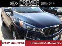Clean CARFAX. Blue 2017 Kia Sorento LX AWD 6-Speed