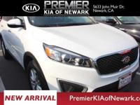 Clean CARFAX. White 2017 Kia Sorento LX AWD 6-Speed