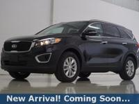 2017 Kia Sorento LX in Ebony Black, This Sorento comes