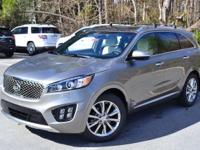 2017 Kia Sorento Limited V6 Titanium Silver AWD. Priced