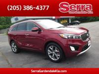 Red 2017 Kia Sorento SX AWD 6-Speed Automatic with