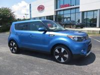 CARFAX One-Owner. Blue 2017 4D Hatchback Kia Soul Plus