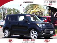 CARFAX One Owner. Clean CARFAX. Black 2017 Kia Soul FWD