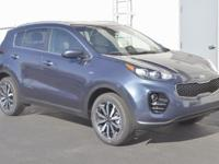 Blue 2017 Kia Sportage EX AWD 6-Speed Automatic 2.4L I4