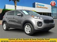 CARFAX One-Owner. Clean CARFAX. Gray 2017 Kia Sportage