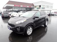 CARFAX One-Owner. 2017 Kia Sportage LX Black One Owner,