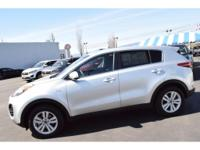 This 2017 Kia Sportage  is a manufacturer certified