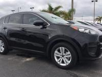 2017 Kia Sportage LX Black Cherry CARFAX One-Owner.