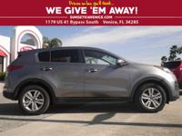 WE HAVE ONE!! A BARELY-USED 2017 KIA SPORTAGE LX THAT