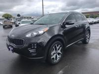 CARFAX One-Owner. 2017 Kia Sportage SX Black One Owner,