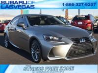 2017 Lexus IS 200t 4D Sedan  2.0L I4 Turbocharged RWD