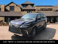 Curbside beauty. Brute force. The Lexus LX features
