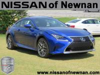 CARFAX One-Owner. Clean CARFAX. Blue 2017 Lexus RC 200t