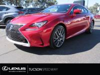 The 2017 RC Turbo F Sport is a sleek and sporty coupe