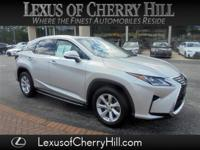 Certified. Clean CARFAX. Silver 2017 Lexus RX 350 AWD