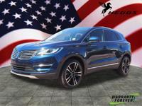 CARFAX One-Owner. Clean CARFAX. Blue 2017 Lincoln MKC