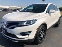 2017 Lincoln MKC Reserve White Fresh Oil Change, No