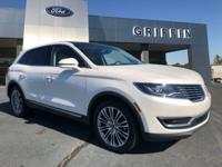 New Price! White 2017 Lincoln MKX Reserve FWD 6-Speed