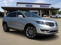Silver 2017 Lincoln MKX Reserve FWD 6-Speed Automatic