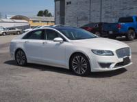 New Price! Clean CARFAX. White 2017 Lincoln MKZ Reserve