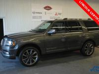 Certified. Gray 2017 Lincoln Navigator Reserve 4WD